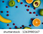 fresh fruit for smoothies on a...   Shutterstock . vector #1263980167