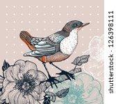 vector illustration of a bird... | Shutterstock .eps vector #126398111