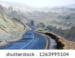 Makran Coastal Highway or National Highway 10 in Pakistan which extends along Pakistan