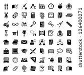 64 vector school and education... | Shutterstock .eps vector #126400271
