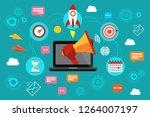 digital marketing. concept of...   Shutterstock .eps vector #1264007197