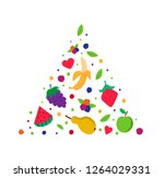 fruit pyramid. healthy eating...   Shutterstock .eps vector #1264029331