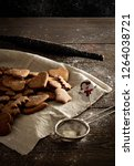 vegan ginger bread for... | Shutterstock . vector #1264038721