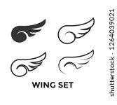 wing set graphic icon design... | Shutterstock .eps vector #1264039021