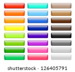 set of colored web buttons | Shutterstock .eps vector #126405791