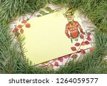 new year greeting card with pig....   Shutterstock . vector #1264059577