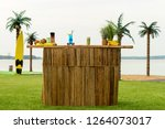 exit bar  bar counter outdors... | Shutterstock . vector #1264073017