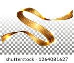 vector 3d paint curl. abstract... | Shutterstock .eps vector #1264081627