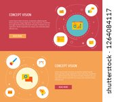 set of website icons flat style ... | Shutterstock . vector #1264084117