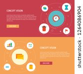 set of project icons flat style ... | Shutterstock . vector #1264086904