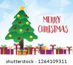 vector of geometric blue... | Shutterstock .eps vector #1264109311