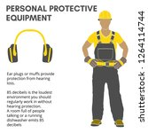 personal protective equipment... | Shutterstock .eps vector #1264114744