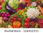 assortment of fresh vegetables... | Shutterstock . vector #126412511