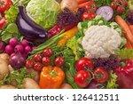 assortment of fresh vegetables... | Shutterstock . vector #126412511
