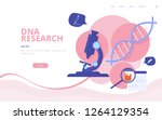 genetic engineering vector... | Shutterstock .eps vector #1264129354
