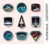 space missions patches  badges  ... | Shutterstock .eps vector #1264143547