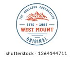 west mount. vector illustration.... | Shutterstock .eps vector #1264144711