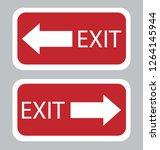 emergency exit board | Shutterstock .eps vector #1264145944