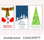 merry christmas and happy new... | Shutterstock .eps vector #1264145977