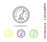 speedometer colored icon. can...