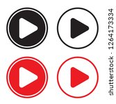 play icons. vector buttons  ... | Shutterstock .eps vector #1264173334