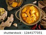 chicken masala curry  spicy... | Shutterstock . vector #1264177351