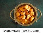 chicken masala curry  spicy... | Shutterstock . vector #1264177381