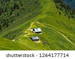 mountain inn in the hiking area ... | Shutterstock . vector #1264177714