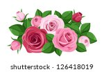 Red And Pink Roses  Rosebuds...