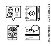 simple internet icons set....   Shutterstock .eps vector #1264186291