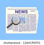 newspaper and magnifying glass. ...   Shutterstock .eps vector #1264190551