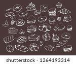 vector design for bakery or... | Shutterstock .eps vector #1264193314
