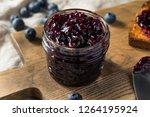 organic homemade blueberry... | Shutterstock . vector #1264195924