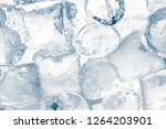 ice cubes on white background.... | Shutterstock . vector #1264203901