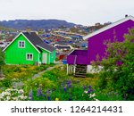 Colorful houses in Qaqortoq, Greenland. Qaqortoq is the fourth largest town in the country.