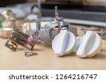 spare parts for the repair of a ... | Shutterstock . vector #1264216747