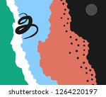 abstract paper background with... | Shutterstock .eps vector #1264220197