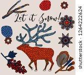 winter holidays invitation card ... | Shutterstock .eps vector #1264222624