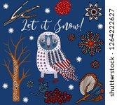 winter holidays invitation card ... | Shutterstock .eps vector #1264222627