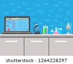 chemistry. laboratory equipment ...   Shutterstock . vector #1264228297