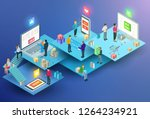 vector isometric composition... | Shutterstock .eps vector #1264234921