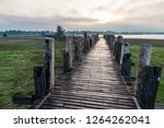 morning view of u bein bridge... | Shutterstock . vector #1264262041