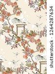 gate blossom dragonfly mountain ... | Shutterstock .eps vector #1264287634