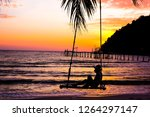 Silhouette Of A Young Women On...