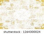 gold splashes texture. brush...   Shutterstock . vector #1264300024