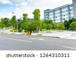 the teaching building on the... | Shutterstock . vector #1264310311