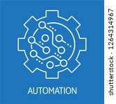 automation. electronic control. ... | Shutterstock .eps vector #1264314967