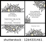romantic wedding invitation... | Shutterstock . vector #1264331461