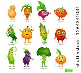 vector image. set of cute... | Shutterstock .eps vector #1264341031