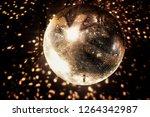 mirror  disco ball  reflecting...   Shutterstock . vector #1264342987